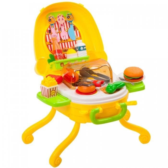 Фото - Игровые наборы Bondibon Кафе фастфуд со светом и звуком в чемоданчике игровой набор bondibon кафе гамбургерная вв3699 желтый зеленый