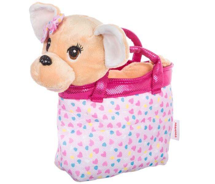 Картинка для Мягкие игрушки Bondibon Милота Чихуахуа в сумке с сердечками и аксессуарами 21 cм
