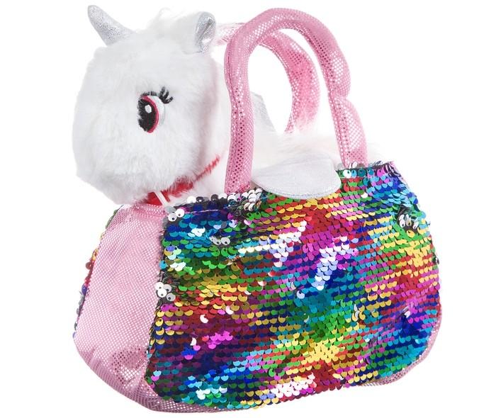 Картинка для Мягкие игрушки Bondibon Милота Крылатый единорог в сумке с пайетками и аксессуарами 18 cм