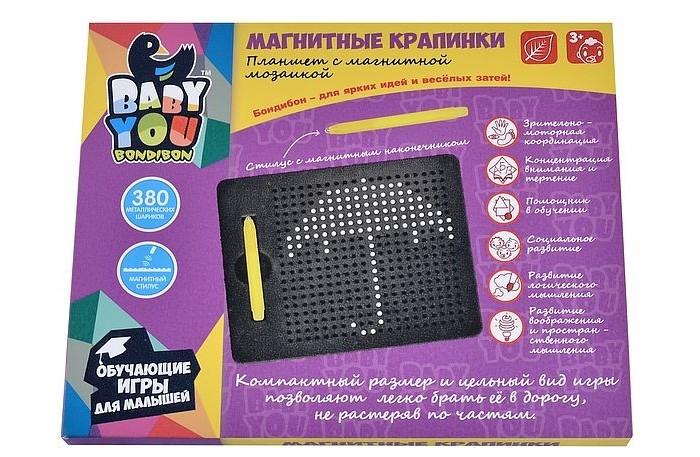 Bondibon Mозаика в планшете Магнитные крапинки (380 шариков) Mозаика в планшете Магнитные крапинки (380 шариков)