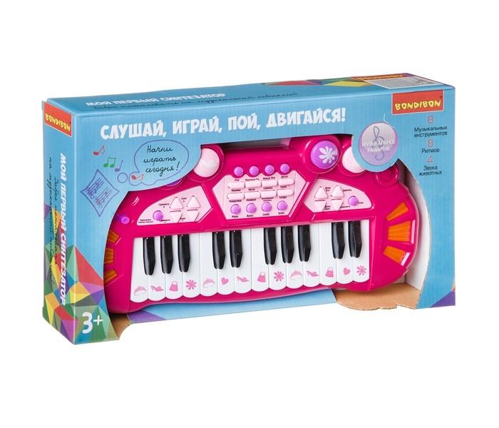 Музыкальные инструменты Bondibon Синтезатор на батарейках 24 клавиши