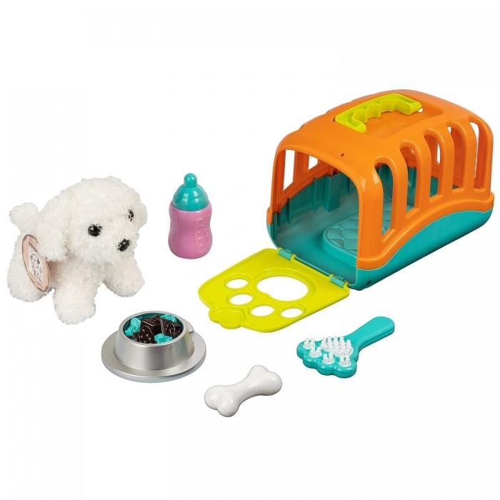 Мягкая игрушка Bondibon Собака в переноске с аксессуарами озвученная 12 см