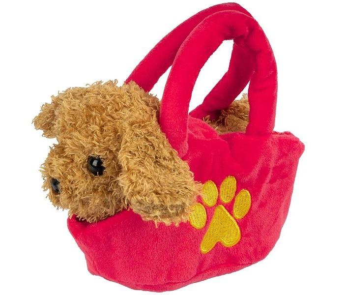Мягкая игрушка Bondibon Собака в сумочке озвученная 12 см