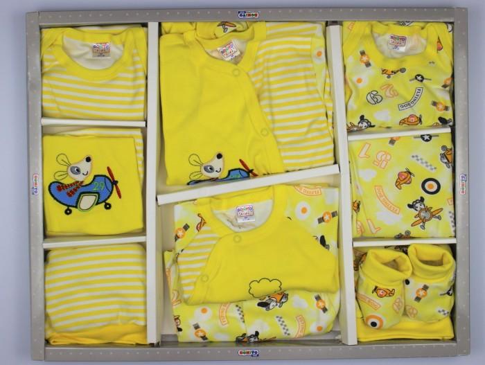 Комплекты на выписку Bonito kids для новорожденного Flying dog (12 предметов)