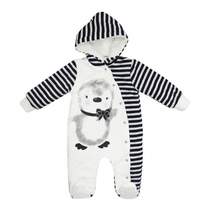 Комбинезоны и полукомбинезоны Bonito kids Комбинезон велюровый Пингвинчик OP362