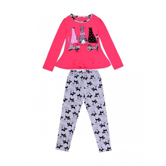 Комплекты детской одежды Bonito kids Комплект для девочки (кофта, лосины) Meaw party maula лосины maula для девочки розовый 122 128