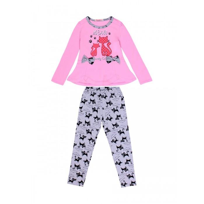 Комплекты детской одежды Bonito kids Комплект для девочки (кофта, лосины) Meaw maula лосины maula для девочки розовый 122 128