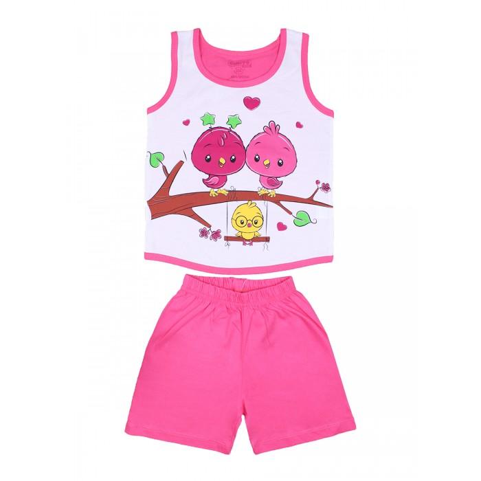 Комплекты детской одежды Bonito kids Комплект для девочки (шорты и майка) Птички