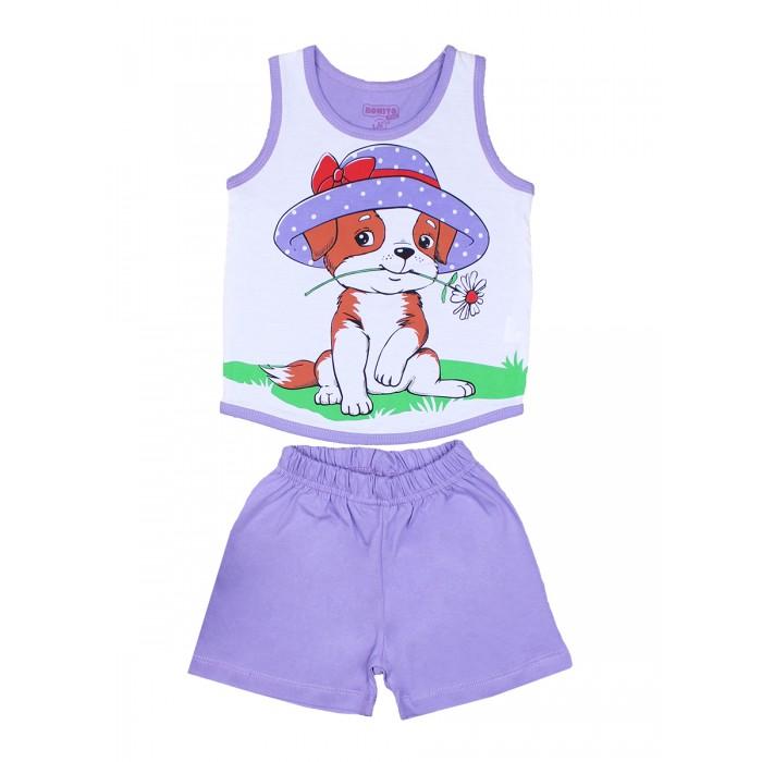 Комплекты детской одежды Bonito kids Комплект для девочки (шорты и майка) Собачка