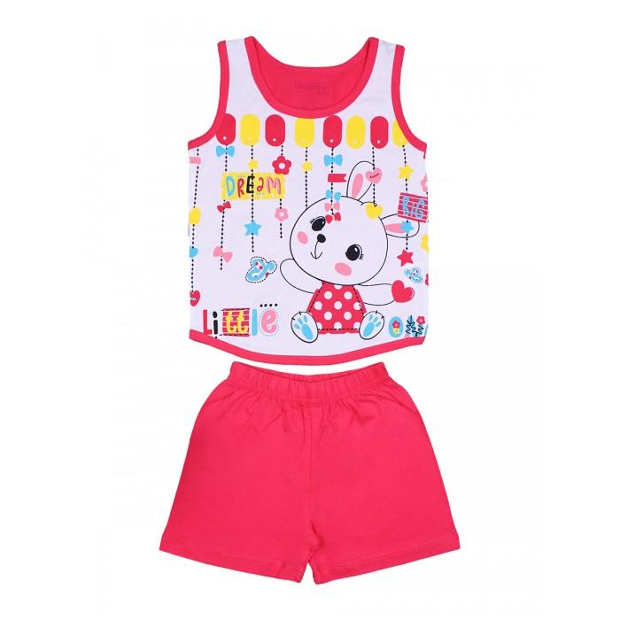 Комплекты детской одежды Bonito kids Комплект для девочки (шорты и майка) Зайка