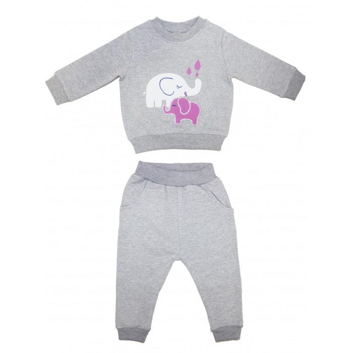 Bonito kids Комплект для девочки Слоники (свитшот и брюки) ОР247