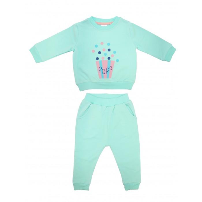 Комплекты детской одежды Bonito kids Комплект для девочки Попкорн (свитшот и брюки) ОР247