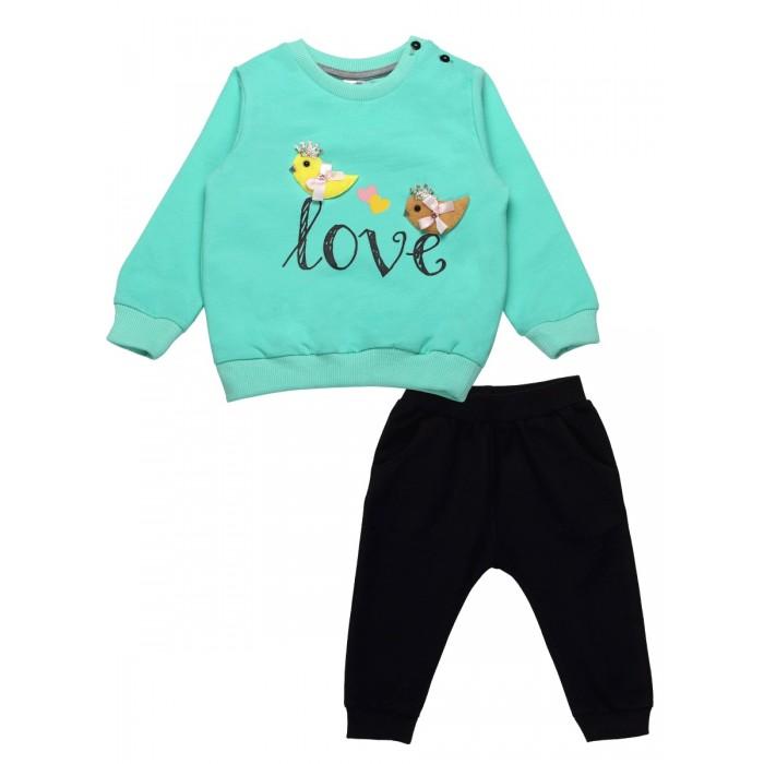 Картинка для Комплекты детской одежды Bonito kids Комплект для девочки (толстовка, брюки) Love