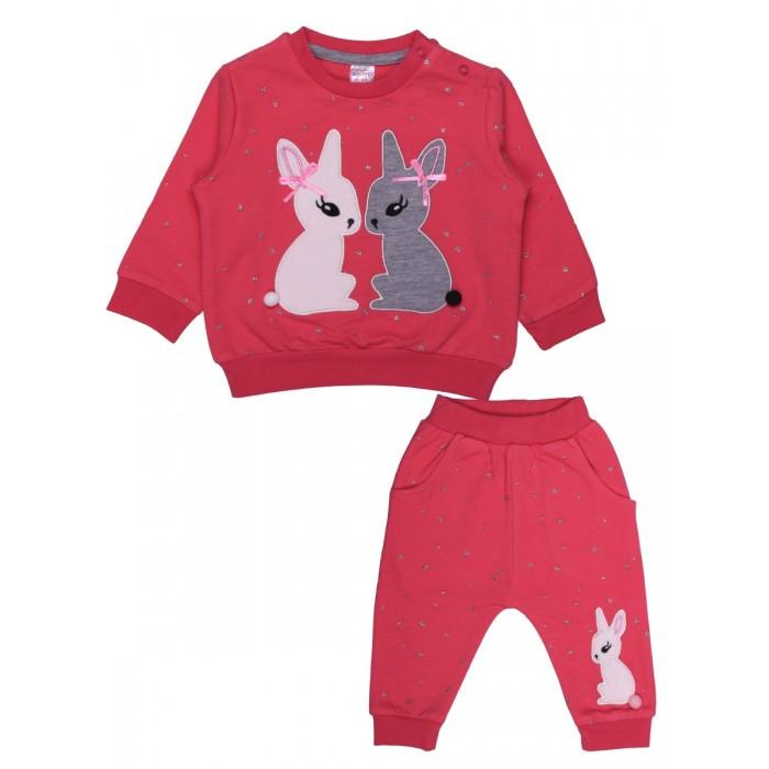 Картинка для Комплекты детской одежды Bonito kids Комплект для девочки (толстовка, брюки) Зайцы