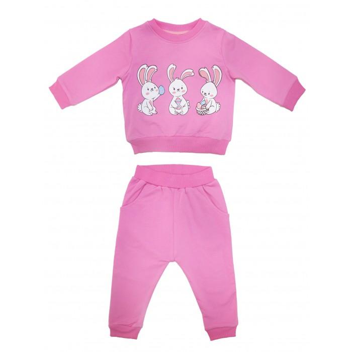 Комплекты детской одежды Bonito kids Комплект для девочки Зайки (свитшот и брюки) ОР247