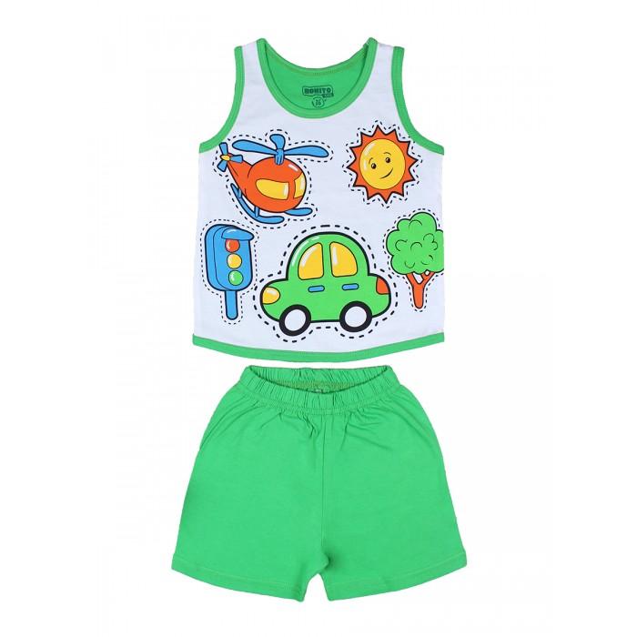 Комплекты детской одежды Bonito kids Комплект для мальчика (шорты и майка) Машинка