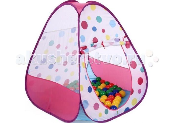 Bony Игровой домик с шариками Треугольник большойИгровой домик с шариками Треугольник большойКрасочные и интересные игровые домики для детей — это лучшее решение родителей, чтобы ребенок мог активно играть с пользой для здоровья!  Домики очень компактные, легкие и их легко брать с собой, например, на дачу или на природу.  В комплекте 100 разноцветных шариков, играя которыми, малыши развивают ловкость и моторику рук.   Палатка имеет окошки из сетки. Специальная дверка закрепляется на липучках. Достаточно высокий порог не позволит выкатываться шарикам.  Размеры: домик - 85&#215;85&#215;100 см.<br>