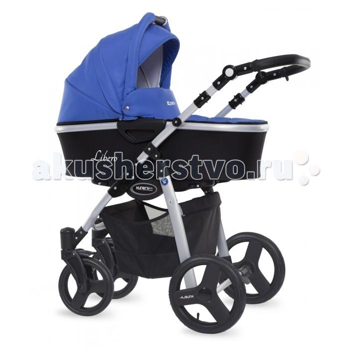 Коляска Kunert Libero 3 в 1Libero 3 в 1Коляска модульная Kunert Libero 3 в 1 - – это стильная модель, отличающаяся широким функционалом и универсальностью. Она подходит и для мальчиков, и для девочек. Может использоваться с рождения и до трехлетнего возраста, пока ребенок не пересядет на другие виды транспорта.  Надувные колеса в сочетании с отличной амортизацией придают этой модели плавный и мягкий ход. При этом коляска легко едет и по парковым тропинкам, и по осенним лужам и даже по зимнему снегу.  Автокресло может использоваться с рождения, что делает се перемещения с ребенком особенно удобными.   Особенности: регулируемая высота ручки от 70 до 113 см, перекидываемая ручка: ребенок едет лицом к Вам либо лицом к улице 5-титочечные ремни безопасности при сидячем положении - защитная дуга-бампер двухсторонний тормоз 3 положения спинки в сидячем положении, вплоть до горизонтального хромированные колеса с эбонитовым покрытием, каучукопластик (изностойкие, не прокалываемые) амортизация на всех колесах большая удобная корзина для детей от 0 до 3 лет: с рождения до 6 мес. возможно использование люльки-переноски, которая вставляется в коляску размер в сложенном виде 95*59*48 см вес 14 кг.<br>