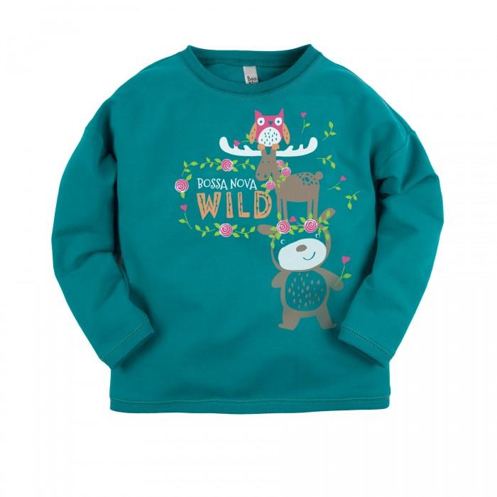 Джемперы, свитера, пуловеры Bossa Nova Джемпер для девочки с принтом Совушка 219Б-464 джемперы cudgi джемпер