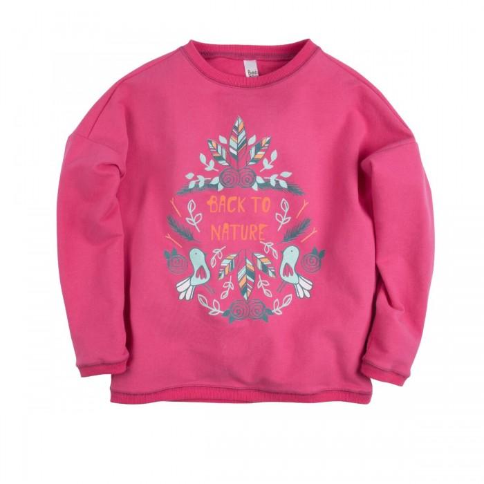 Джемперы, свитера, пуловеры Bossa Nova Джемпер для девочки с принтом Совушка 219Б-464м джемперы свитера пуловеры bossa nova джемпер для девочки с принтом совушка 223б 162