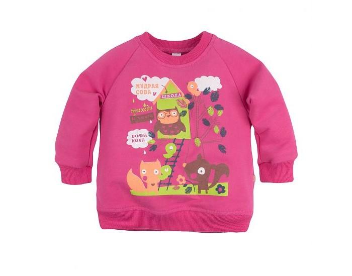 Джемперы, свитера, пуловеры Bossa Nova Джемпер для девочки с принтом Совушка 550Б-464м джемперы свитера пуловеры bossa nova джемпер для девочки с принтом совушка 207б 162