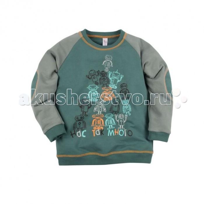 Джемперы, свитера, пуловеры Bossa Nova Джемпер с принтом для мальчика Роботы 225Б-464