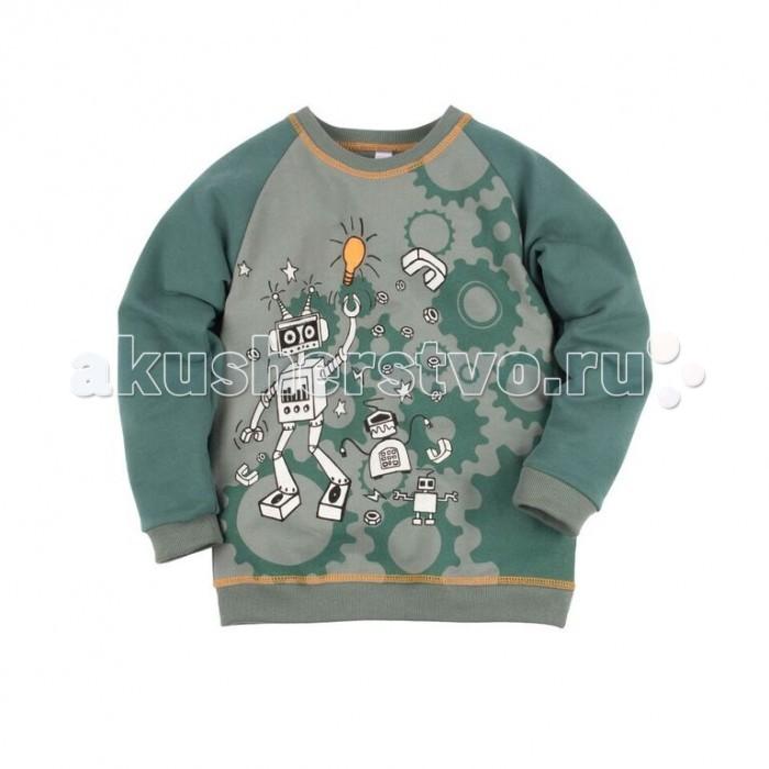 Джемперы, свитера, пуловеры Bossa Nova Джемпер с принтом для мальчика Роботы 227Б-464