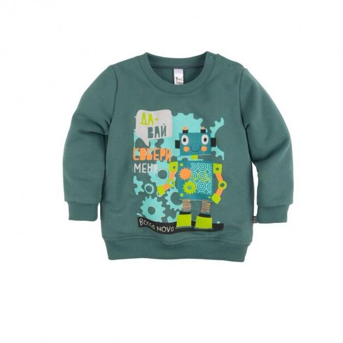 Джемперы, свитера, пуловеры Bossa Nova Джемпер с принтом для мальчика Роботы 554Б-464 джемперы свитера пуловеры bossa nova джемпер для девочки с принтом совушка 223б 162