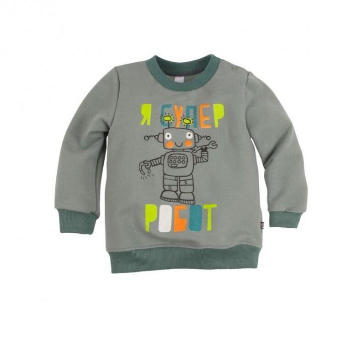 Джемперы, свитера, пуловеры Bossa Nova Джемпер с принтом для мальчика Роботы 554Б-464с джемперы свитера пуловеры bossa nova джемпер для девочки с принтом совушка 223б 162