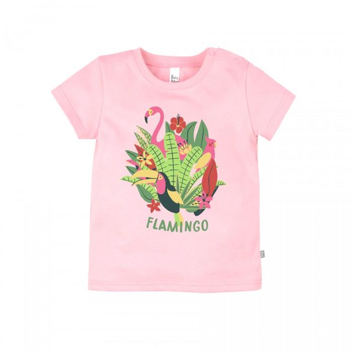 Футболки и топы Bossa Nova Футболка для девочки Фламинго 259Б-161р кофты и кардиганы bossa nova кофта на кнопках для девочки фламинго