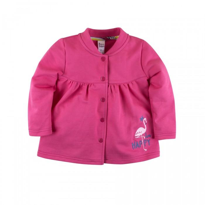 Кофты и кардиганы Bossa Nova Кофта на кнопках для девочки Фламинго