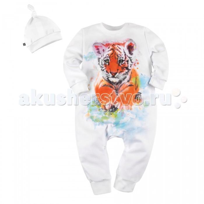 Комплекты детской одежды Bossa Nova Комплект для мальчика комбинезон и шапочка Акварель Тигр комплекты детской одежды rodeng комплект для мальчика r1138