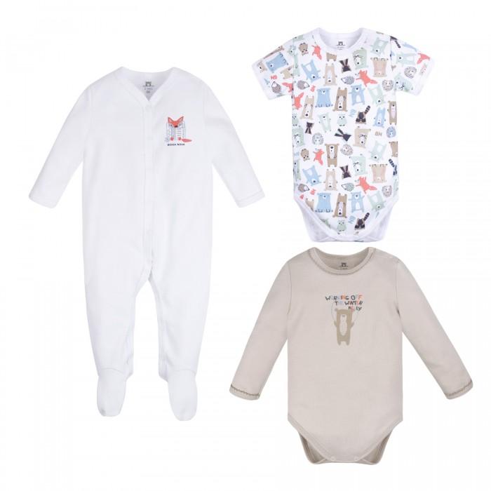 Комплекты детской одежды Bossa Nova Комплект для новорожденных Milka (боди 2 шт. и комбинезон) 063МК-351