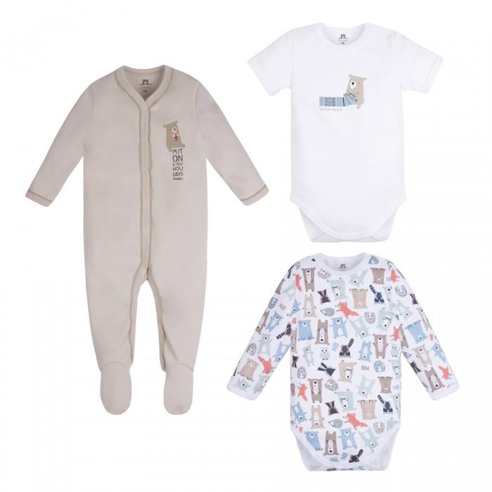 Комплекты детской одежды Bossa Nova Комплект для новорожденных Milka (боди 2 шт. и комбинезон) 063МК-361