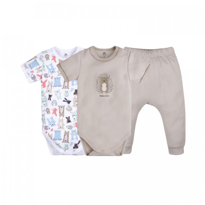 Комплекты детской одежды Bossa Nova Комплект для новорожденных Milka (боди 2 шт. и ползунки) 060МК-361