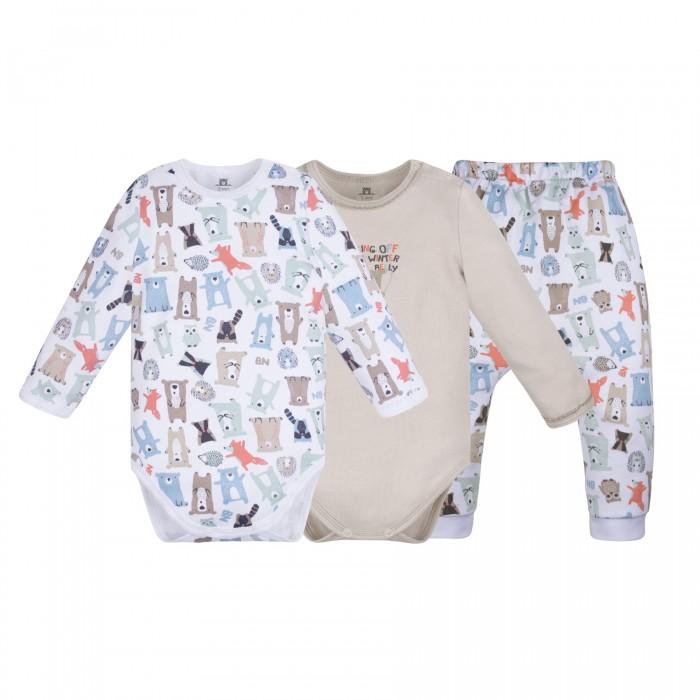 Комплекты детской одежды Bossa Nova Комплект для новорожденных Milka (боди 2 шт. и ползунки) 061МК-371