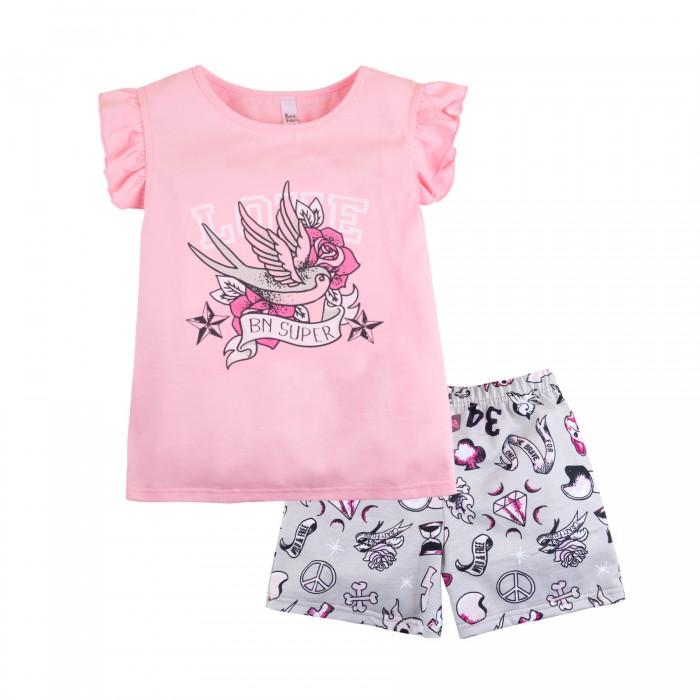 Купить Домашняя одежда, Bossa Nova Пижама для девочки (футболка, шорты) Тату