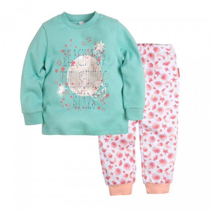 Пижамы и ночные сорочки Bossa Nova Пижама (Джемпер и брюки) для девочки Принт Гравитация 356Б-361 ночные сорочки и рубашки