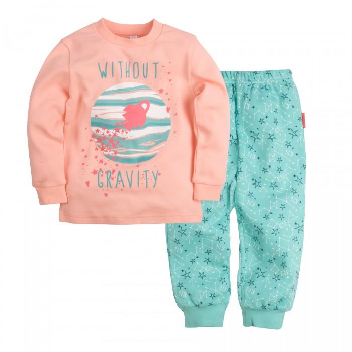 Пижамы и ночные сорочки Bossa Nova Пижама (Джемпер и брюки) для девочки Принт Гравитация 356П-361 ночные сорочки и рубашки
