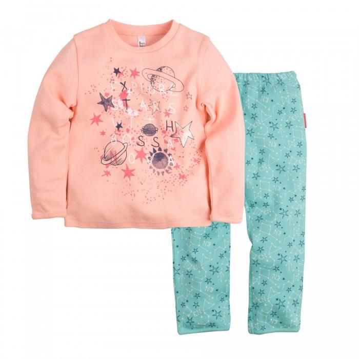 Пижамы и ночные сорочки Bossa Nova Пижама (Джемпер и брюки) для девочки Принт Гравитация 362П-361 ночные сорочки и рубашки