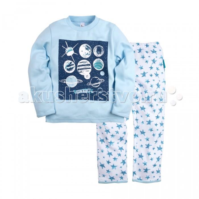 Пижамы и ночные сорочки Bossa Nova Пижама (Джемпер и брюки) для мальчика Принт Гравитация 362М-361 ночные сорочки и рубашки
