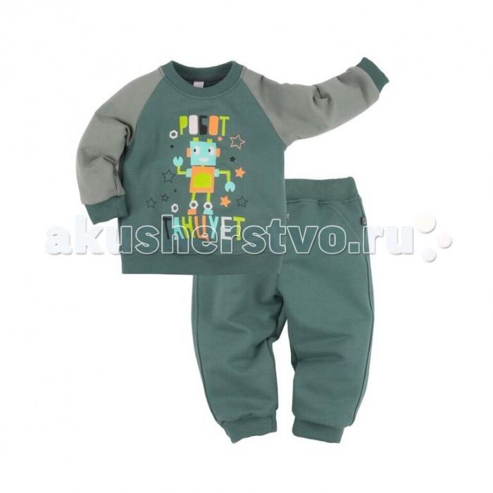 Детская одежда , Пижамы и ночные сорочки Bossa Nova Пижама (джемпер и брюки) с принтом для мальчика Роботы арт: 350025 -  Пижамы и ночные сорочки