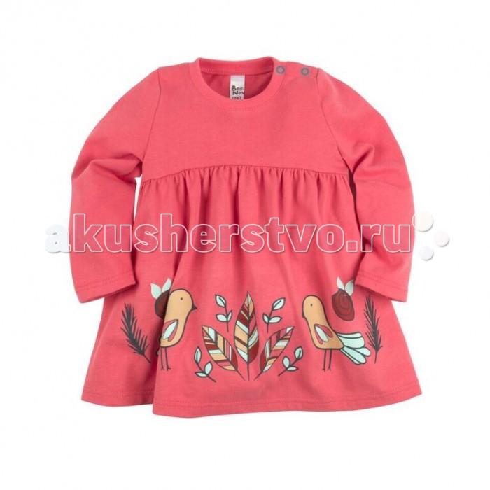 Детские платья и сарафаны Bossa Nova Платье для девочки с принтом Совушка 135Б-162 джемперы свитера пуловеры bossa nova джемпер для девочки с принтом совушка 207б 162