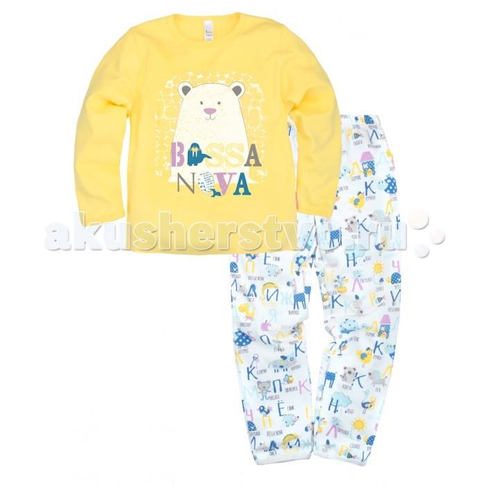 Детская одежда , Пижамы и ночные сорочки Bossa Nova Пижама джемпер и брюки с принтом Полярная ночь 362-371 арт: 276040 -  Пижамы и ночные сорочки