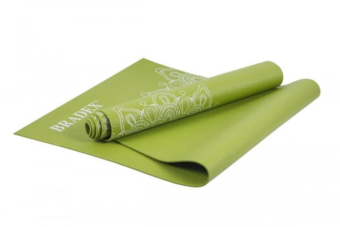 Товары для йоги Bradex Коврик для йоги с рисунком Грин 173х61 см товары для йоги bradex коврик для йоги 173х61 см