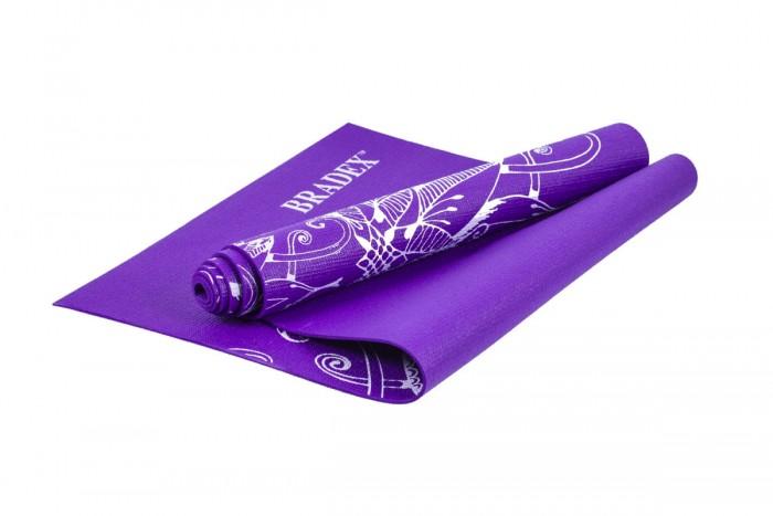 цена на Товары для йоги Bradex Коврик для йоги с рисунком Виолет 173х61 см