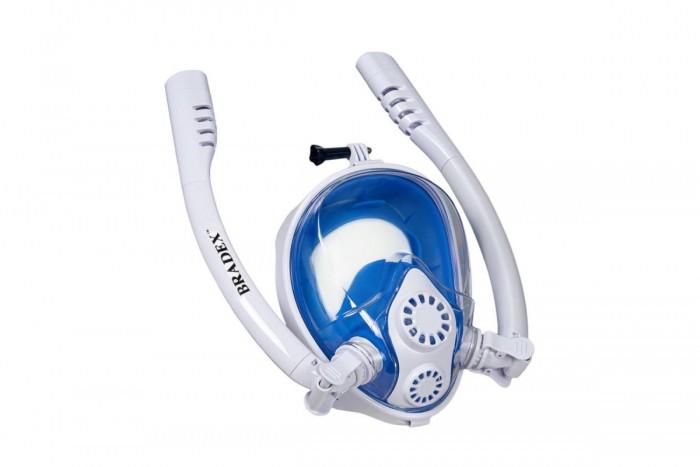 Аксессуары для плавания Bradex Полнолицевая маска для снорклинга с двумя трубками