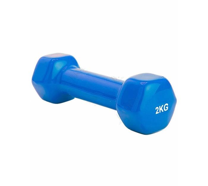 Спортивный инвентарь Bradex Гантель обрезиненная 2 кг спортивный инвентарь bradex диск утяжелитель 2 кг