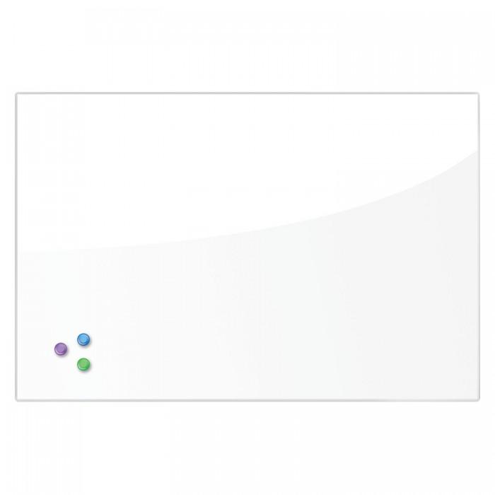 Купить Доски и мольберты, Brauberg Доска магнитно-маркерная стеклянная и 3 магнита 60х90 см