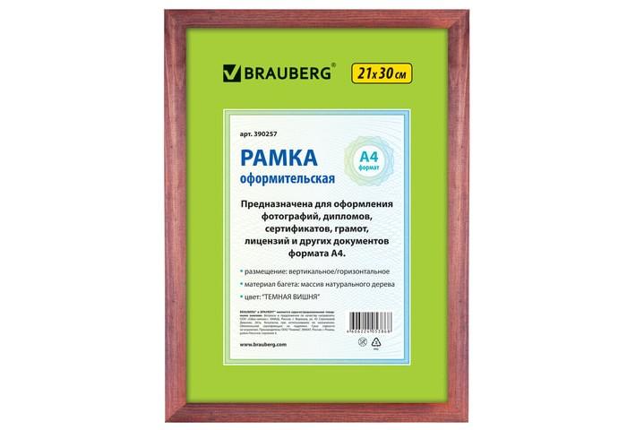 Фото - Фотоальбомы и рамки Brauberg Рамка 21х30 см фотоальбомы и рамки brauberg рамка hit 390021 21х30 см